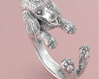 Poodle Dog Adjustable Wrap Ring