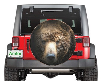Spare Tire Cover Grizzly Bear