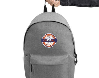 Embroidered Backpack Idiot Club