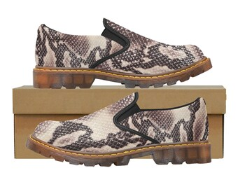 Martin Men's Slip On Loafers Snakeskin