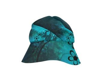 Women's Bucket Ht Turquoise Flower