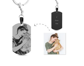 Engraved Custom Photo Keychains
