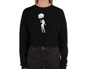 Crop Sweatshirt Woman Power