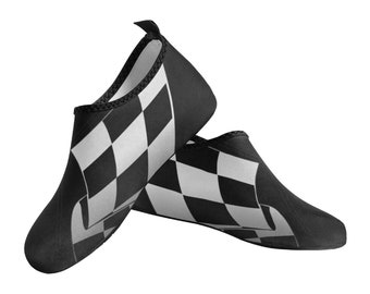 Men's Slip On Water Shoes checkered flag