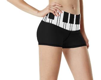 Women's Yoga Shorts Keyboard