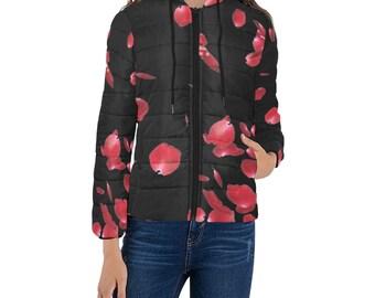 Women's padded Jacket Rose Petals