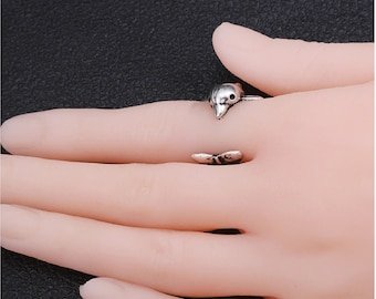 Adjustable Wrap Ring Dolphin