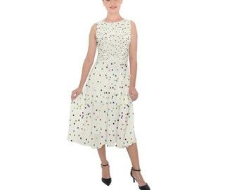 Women's Chiffon Midi Tie Back Dress