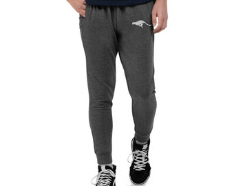 Men's Skinny Joggers Cheetah Embroidered