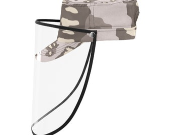 military Cap With Face Shield Dust Camo