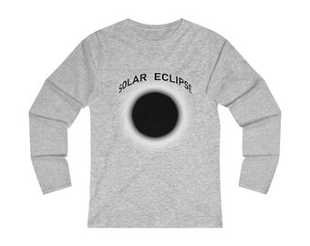 WomenS Fitted Long Sleeve Tee Solar Eclipse