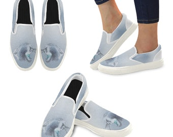 Women's Slip On Shoes Blue Wash