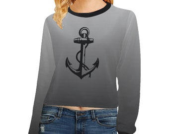 Women's Color Blend Crop Sweatshirt