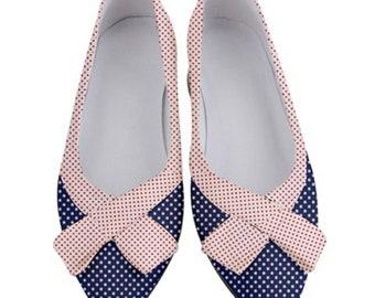 Women's Bow Low Heels