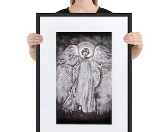 Matte Paper Framed Poster With Mat Angel