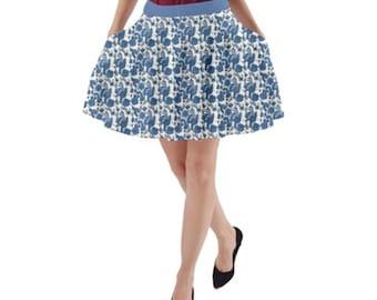 Pocket Skirt Blue Floral