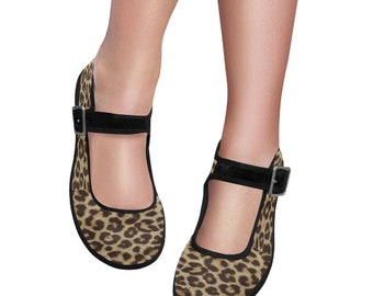 Women's Mary Jane Shoes Leopard Print