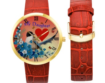 Women's Leather Strap Watch daughter