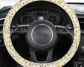 Steering Wheel Cover Daisy Print