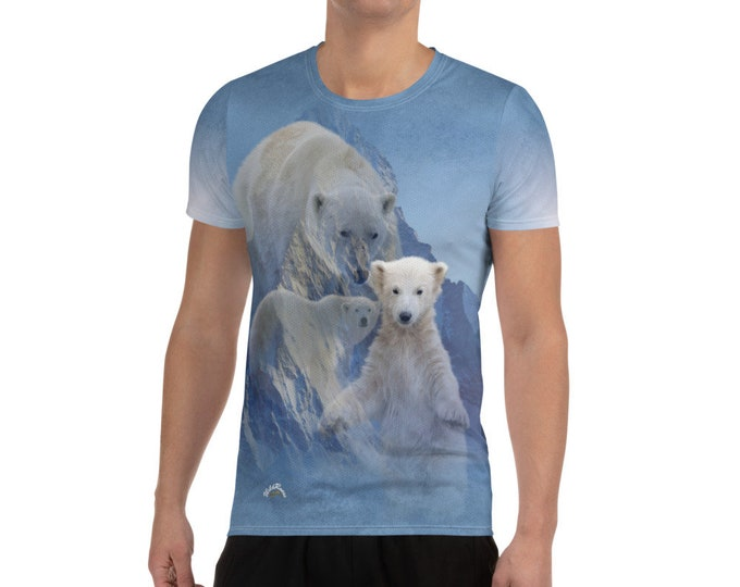 Featured listing image: Men's Athletic T-shirt WildRness Polar Bears