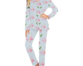 Women's flamingo Pajama Set