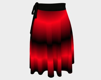 Red Night Wrap Skirt