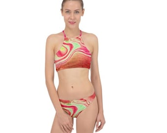 Women's Racer Two Piece Swim Suit