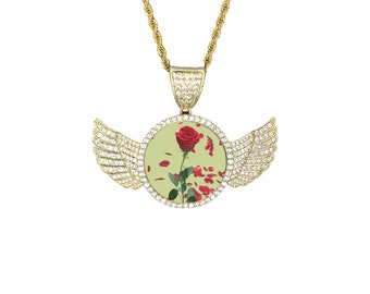 Wings Pendant Photo Necklace