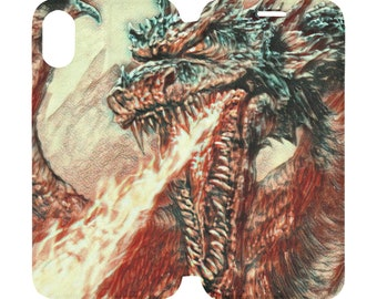 iPhone X XS Cover Case Dragon