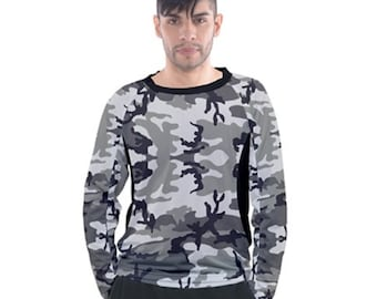 Men's Raglan Grey Camo