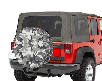 spare Tire Cover Camo Grey