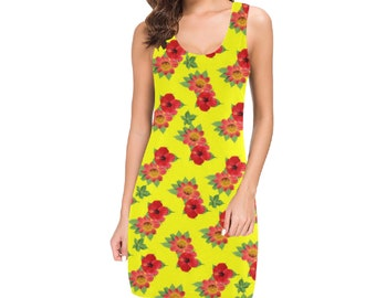 Medea Vest Dress Yellow Floral