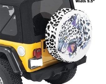 Spare Tire Cover Snow Leopard Print
