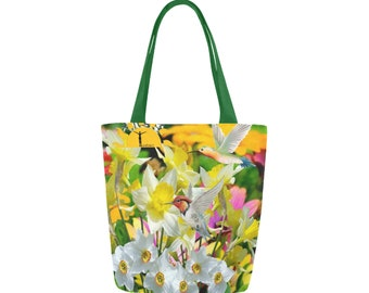 Tote Bag Flowers and Birds