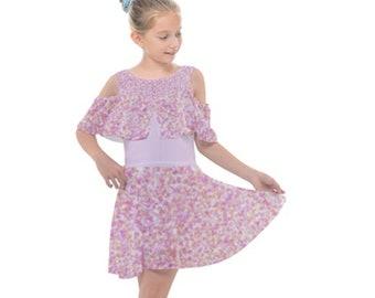 Girls Cut Out Chiffon Dress