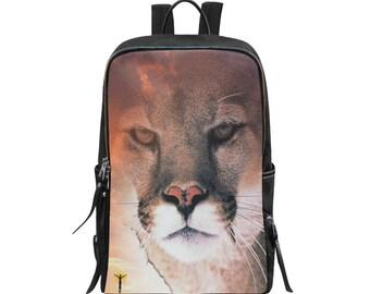 Backpack Slim Cougar Print