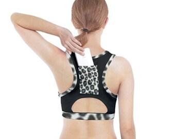 Women's Sports Bra  With Pocket Cheetah