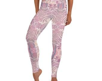 Yoga Leggings Pink Marble