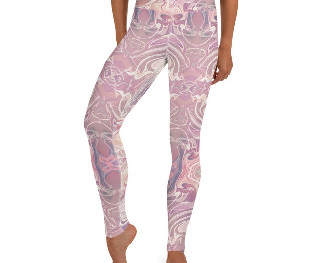 Featured listing image: Yoga Leggings Pink Marble