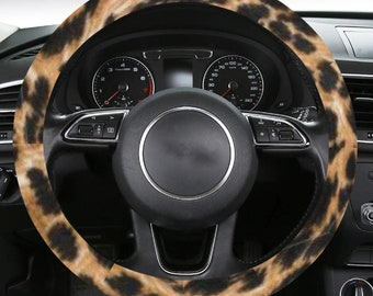 Steering Wheel Cover Leopard Print