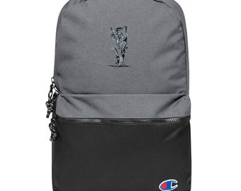 Embroidered Champion Backpack Wolf