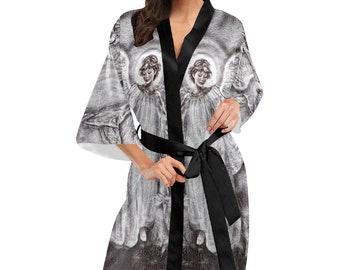 Women's Kimono Robe Guardian Angel