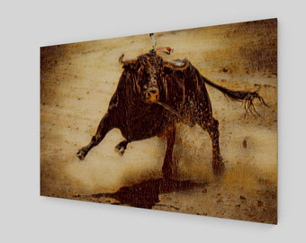 Raging Bull Art Wood Print