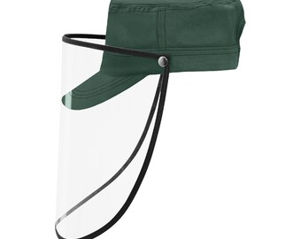 Military Cap With Shield Army Green