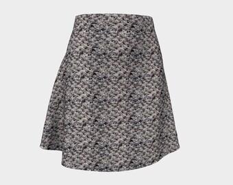 Dusk Grey Flare Skirt