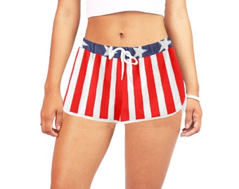 Women's Relaxed Shorts American Flag