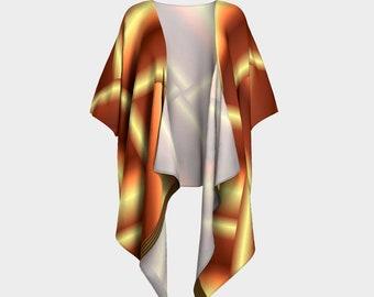 Gold Wrap Draped Kimono