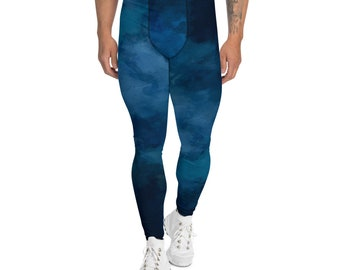 Men's Leggings Blue Wash