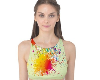 Women's Tank Swim Top Paintball