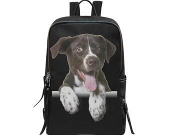 Backpack Slim Dog Print